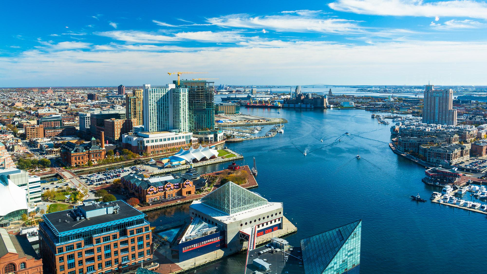 city view of baltimore, maryland