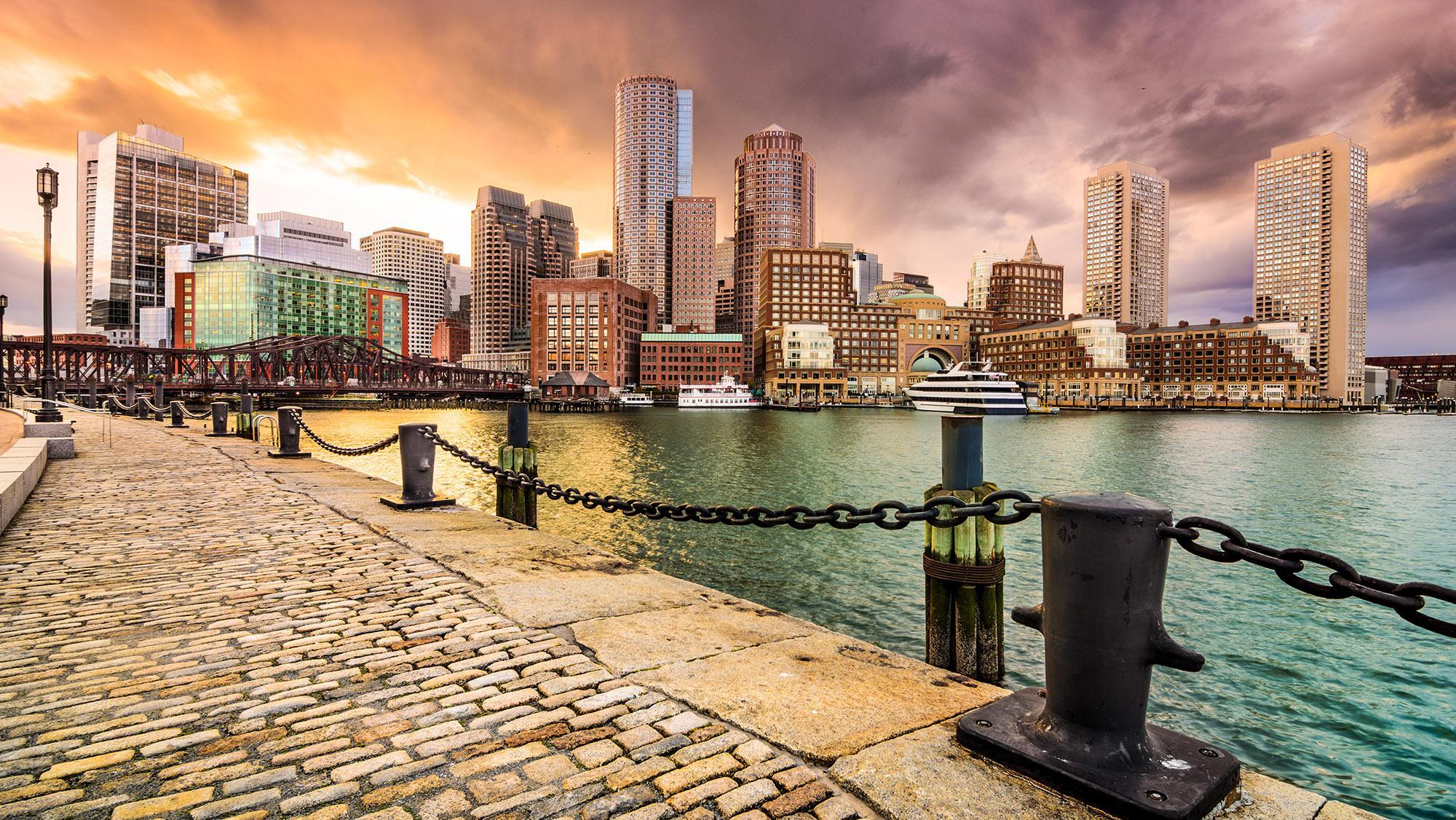 city view of boston, massachusetts