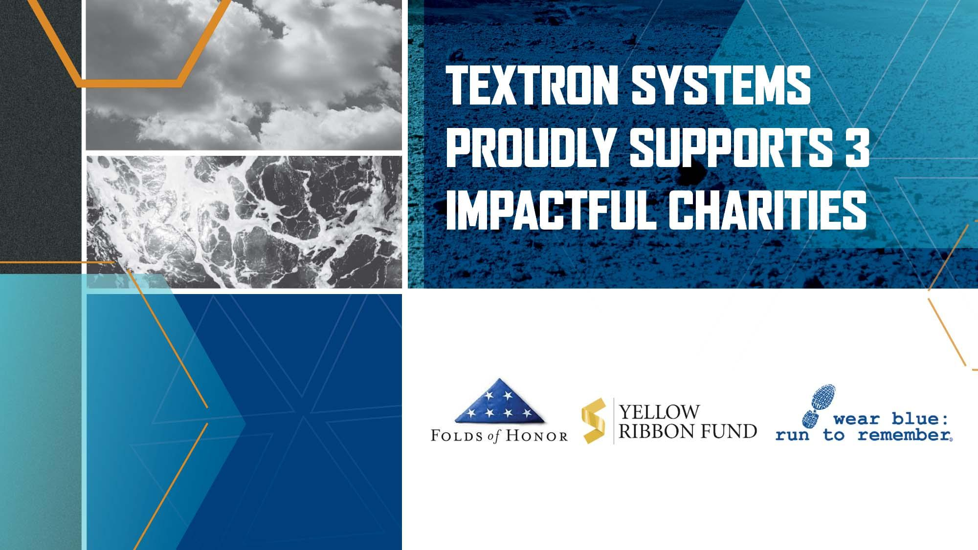 Textron Systems Proudly Supports charities feature image