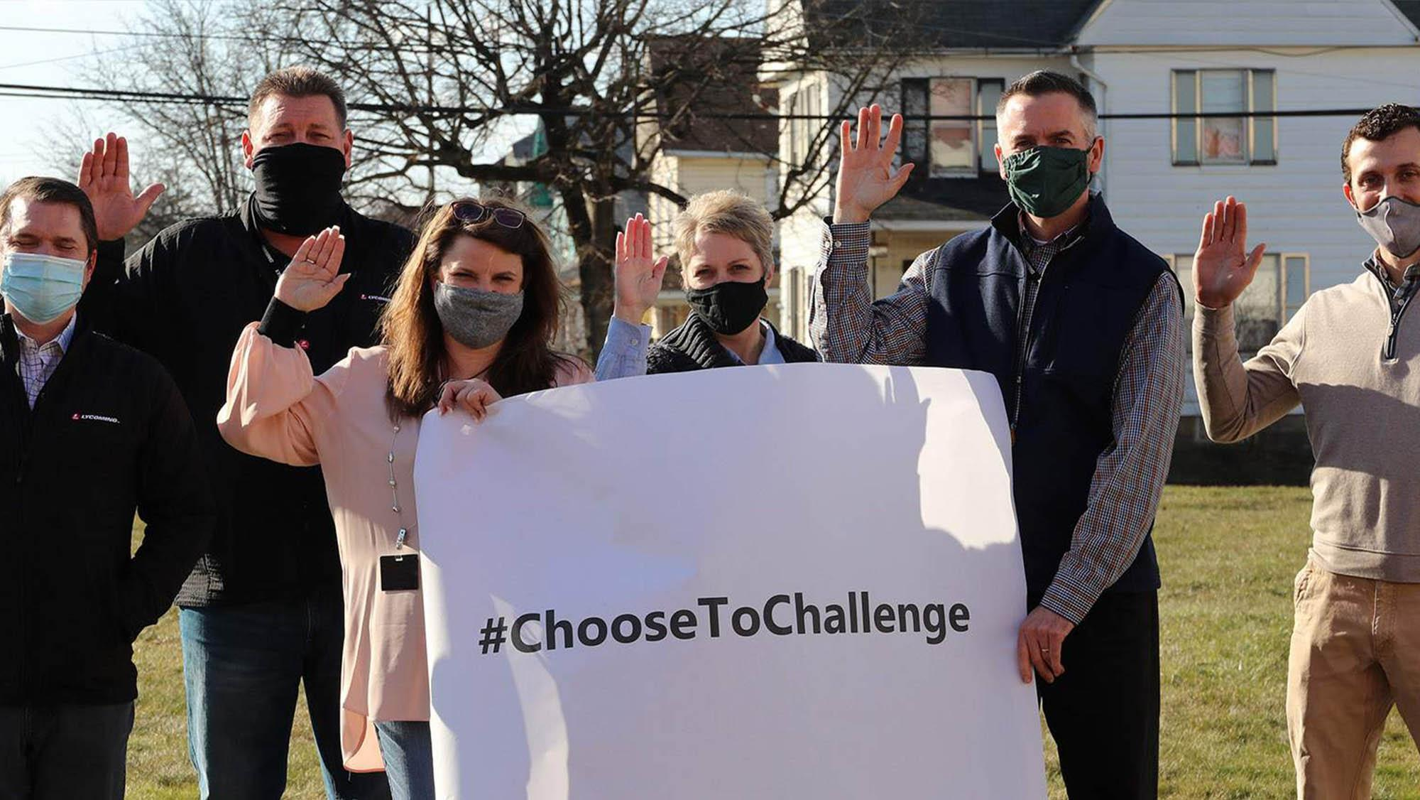 our Women's Network ERG members supported the #ChooseToChallenge campaign