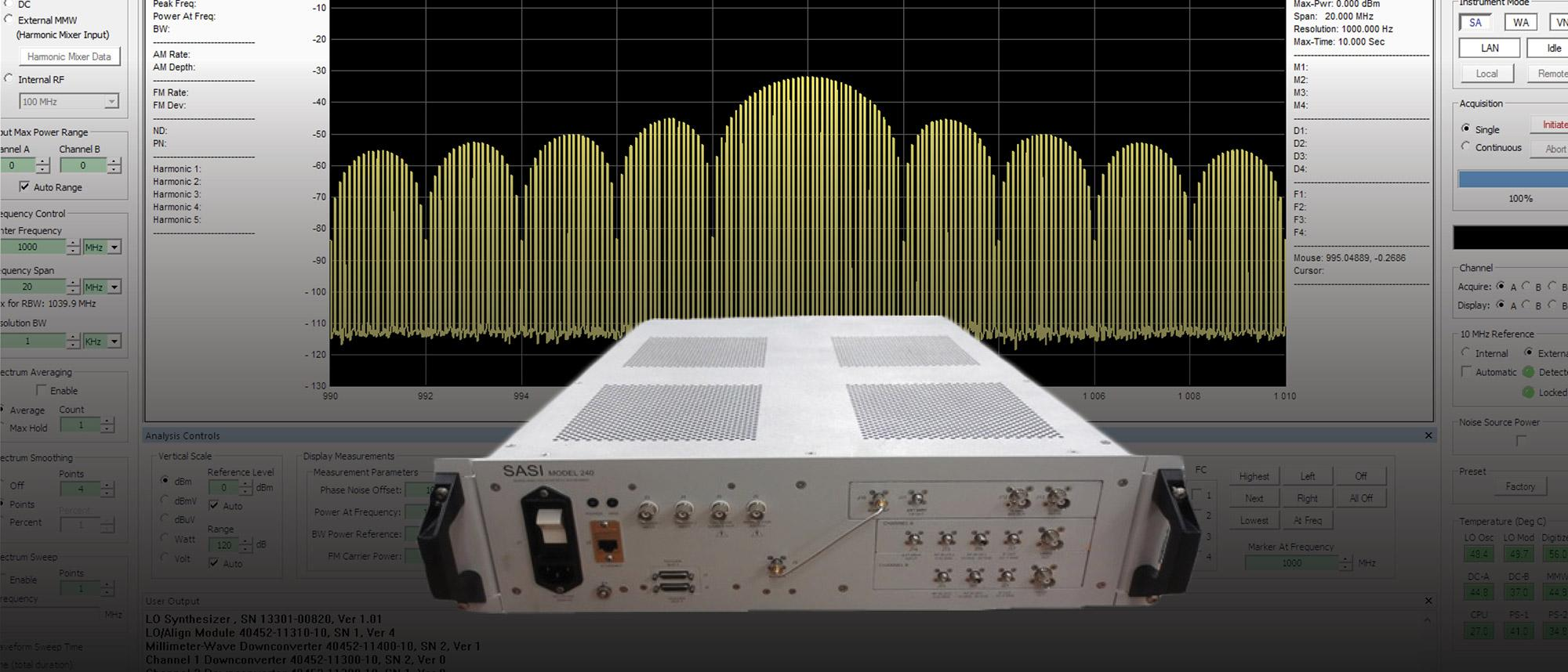 Signal Analysis Synthetic Instrument
